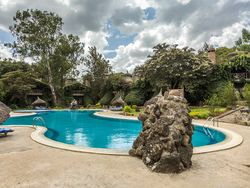 A luxury swimming pool at the lake Tana