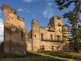 Schlossanlangen aus dem 17 Jahrundert in Gondar