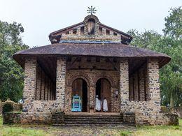 Die berühmte Debre Selassie Klosterkirche