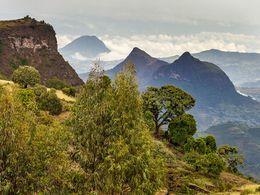 Vulkanlandschaft im Simien-Gebirge