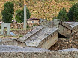 Antike, zerbrochene Stele in Axum