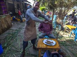 Frischer Fisch ist eine Spezialität in Hawassa