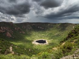Der Krater des El Sod Vulkans