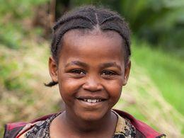 Kleines Mädchen aus Hagere Maryam