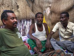 The leader of the Afar people will give us the permission to visit the Erta Ale volcano