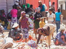 Marktszenen im Zentrum von Addis Abeba