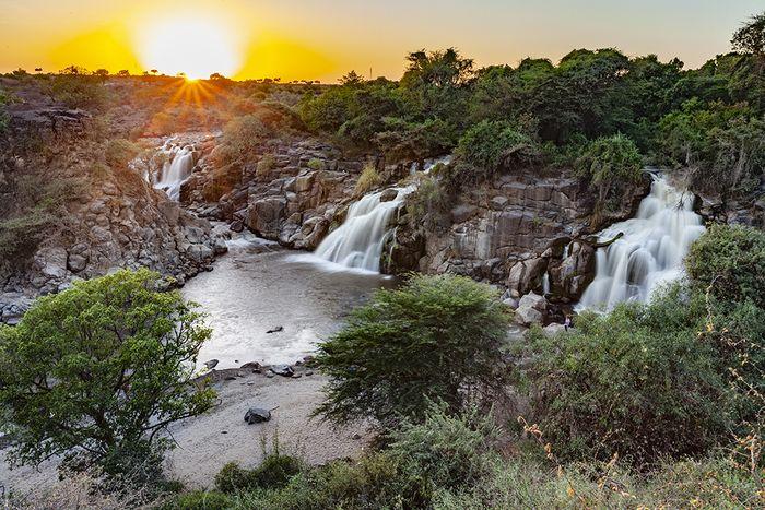 Die berühmten Wasserfälle von Awash. (c) Tobias Schorr