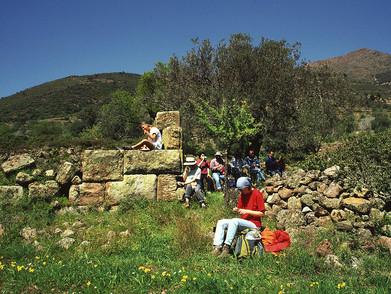 Die erste Wandergruppe auf Methana im März 1997