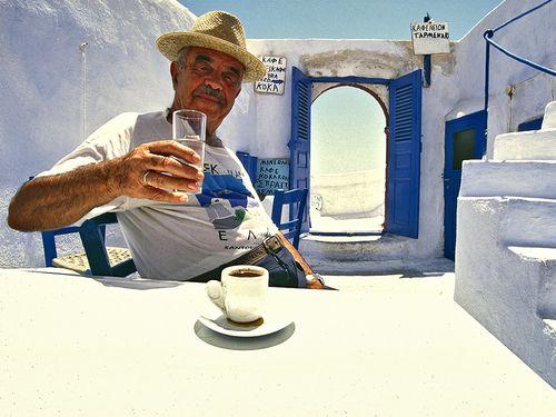 Die Griechen sind kontaktfreudig und gastfreundlich (c) Tobias Schorr