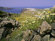Das Dorf Ia im Norden der Insel Santorin