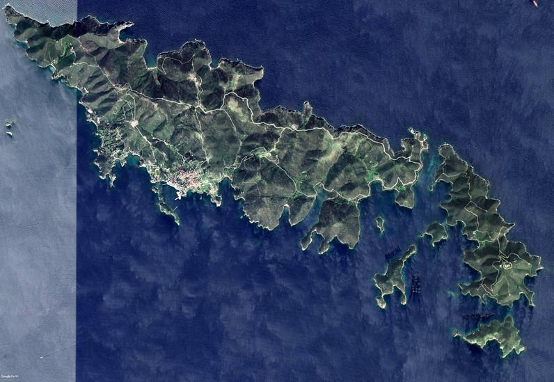 Satellitenbild der Insel Inouses von Google Earth View
