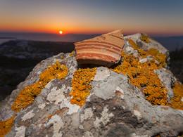 Die minoische Scherbe, die bei dieser Exkursion gefunden wurde (c) Tobias Schorr, April 2017