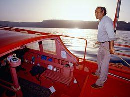 Fahrt mit Kapitän Sostis in der Kaldera