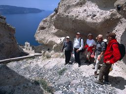 A hiking group is the best way to enjoy Santorini and make new acquaintances and friendships.