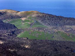 Blick auf die Daphne-Krater von 1939.