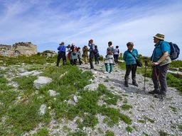 Die Reisegruppe in Alt-Thera/Santorin.