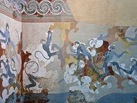 Affen auf einer minoischen Wand