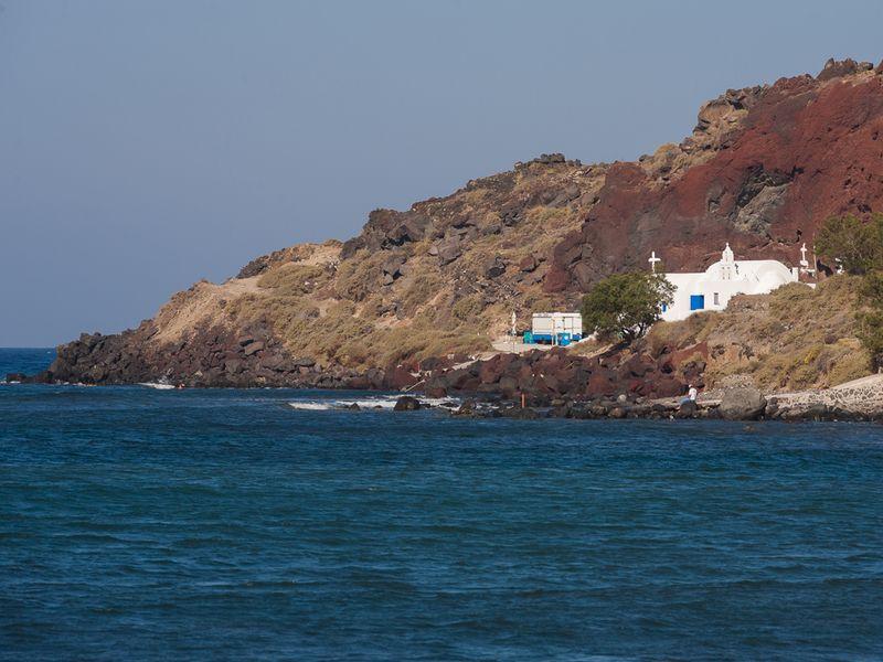 Blick vom Hotel Akrotiri