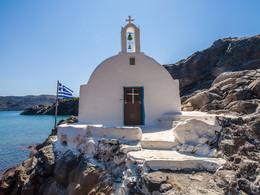Die Kapelle Agios Nikolaos auf Palea Kameni, (c) Tobias Schorr