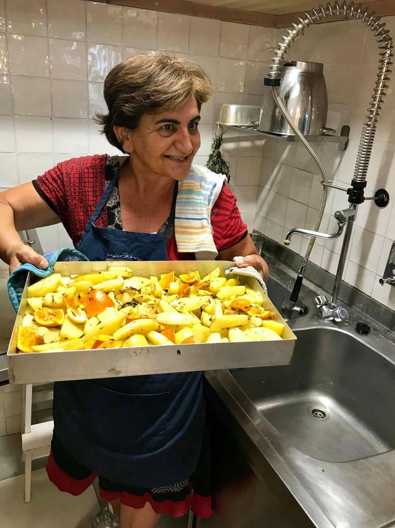 Katerina Sakeliou zaubert leckere Speisen!