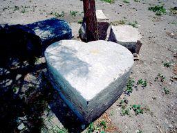 Antikes Herz in der Venezianischen Burg von Kos. (c) Tobias Schorr