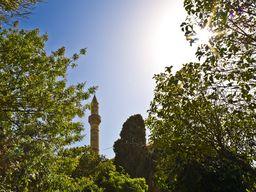 Eine andere türkische Moschee in Kos. Hier leben Türken und Griechen friedlich zusammen.