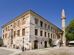 The old Turkish mosque at the Hippocrates plane
