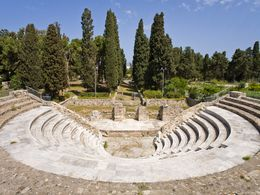 The Roman odeon (music theatre) at Cos town