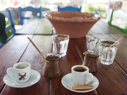 A typical Greek coffee at Zia village