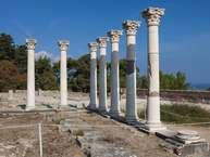 """Die Säulen im Heiligtum des Asklepios (""""Äskulap"""") auf Kos"""