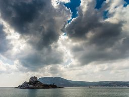 Der kleine Lavadom der Insel Agios Stefanos auf Kos