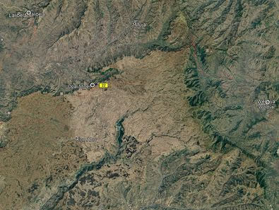 Die Lage der Opalmine in Google Earth View.