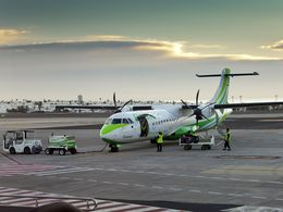 Departure from Arrecife aiport on Lanzarote