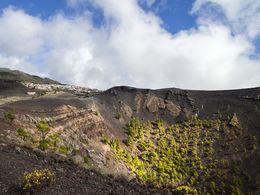 The crater of St. Antonio volcano