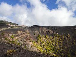 Der Krater des Vulkans San Antonio