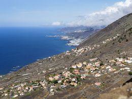 The western coast of La Palma island