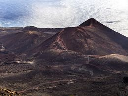 The volcano Teneguia that erupted in 1971