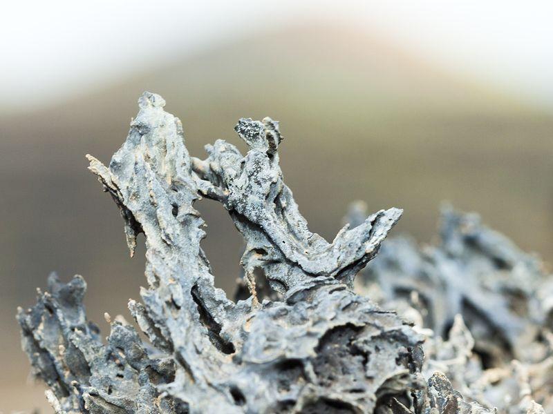 Pieces of lava at La Palma