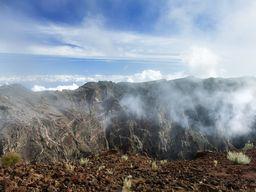 Am Rand der Caldera Tamburiente - einer der ältesten Kalderen der Kanarischen Inseln. (c) Tobias Schorr