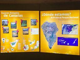 Darstellung der Geologie im Besucherzentrum der Caldera Tamburiente. Eines der besten, geologischen Informationszentren der Kanarischen Inseln! (c) Tobias Schorr