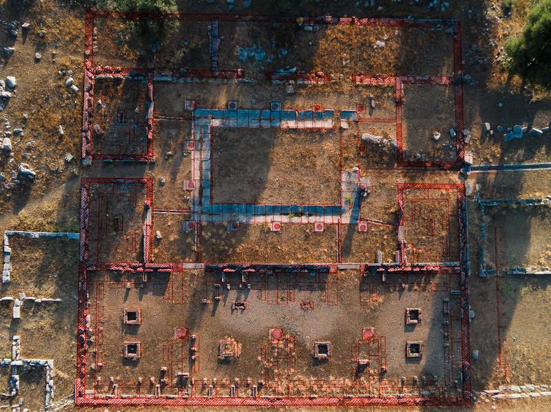 Der Lageplan von Gabriel Welter in das Luftbild eingefügt (c) Tobias Schorr