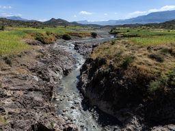 Die Landschaft in der Region um Lalibela ist von Schluchten geprägt, die von wilden Flüssen erschaffen wurden. (c) Tobias Schorr