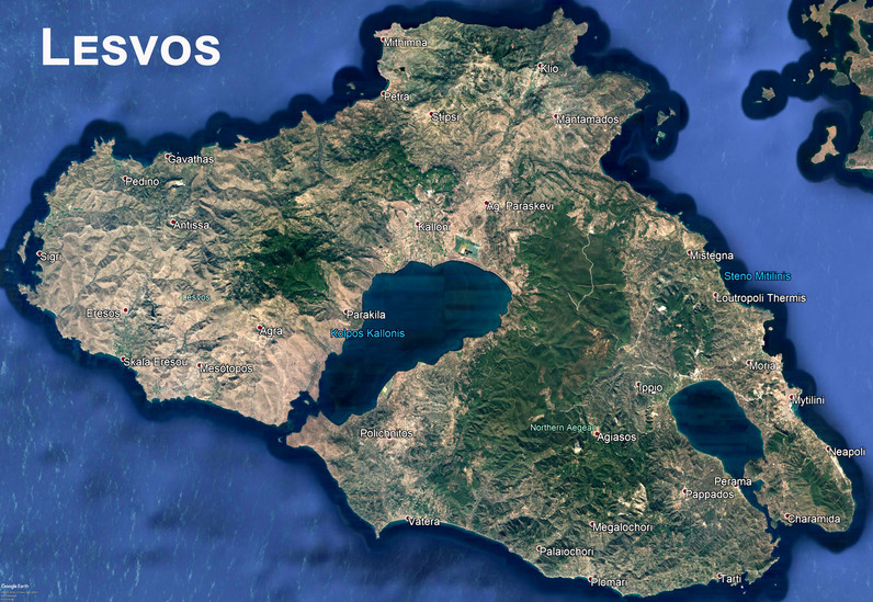 Die Insel Lesvos (c) Google Earth View