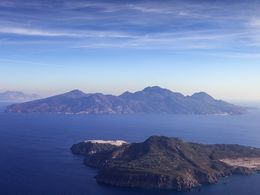 Aerial photography of the islands Yali and Nisyros