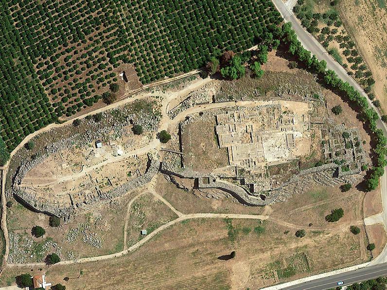 Luftbild der Ausgrabung (c) Google Earth View