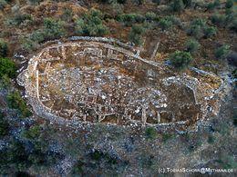 Luftbild der Akropolis von Galatas (c) Tobias Schorr