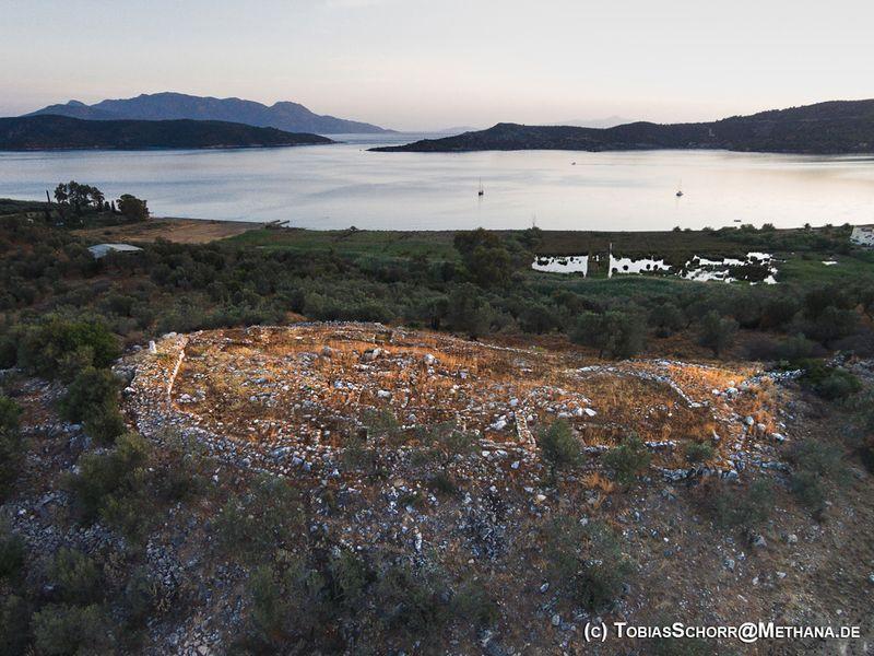 Luftaufnahme der Akropolis von Galata (c) Tobias Schorr