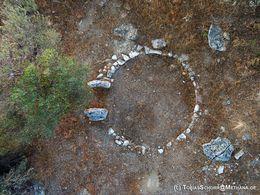 Luftbild des kreisrunden Heiligtums (?) (c) Tobias Schorr