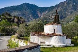 Die Kapelle Agios Nikolaos bei der antiken Akropolis. (c) Tobias Schorr