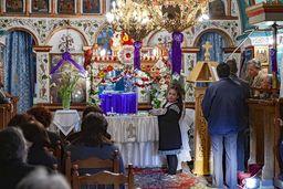 Liturgie in der Panagia-Kirche. (c) Tobias Schorr